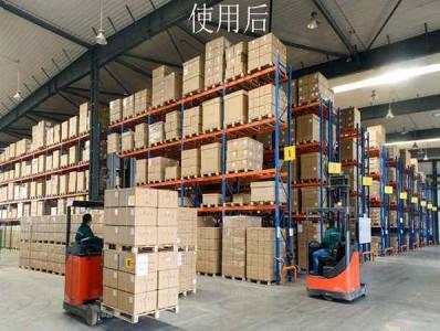 不同的仓储货架需要配置不同的叉车